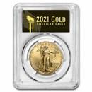 2021 1 oz American Gold Eagle (Type 2) MS-70 PCGS (FS, Black)