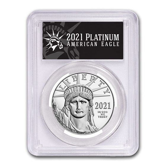 2021 1 oz American Platinum Eagle MS-70 PCGS (FDI, Black Label)