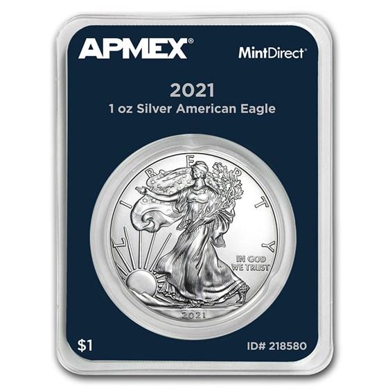 2021 1 oz American Silver Eagle (MintDirect® Single)