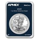 2021 1 oz American Silver Eagle (Type 1) (MintDirect® Single)