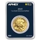 2021 1 oz Gold Buffalo (MintDirect® Premier Single + PCGS FS)
