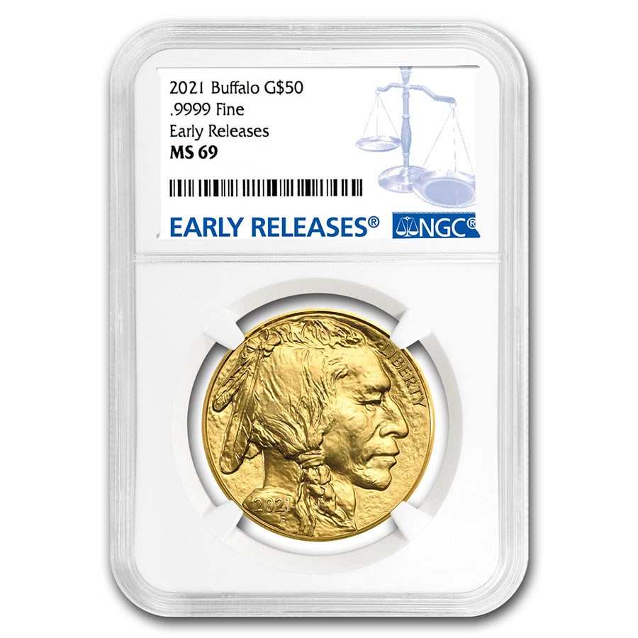 2021 1 oz Gold Buffalo MS-69 NGC (Early Releases)