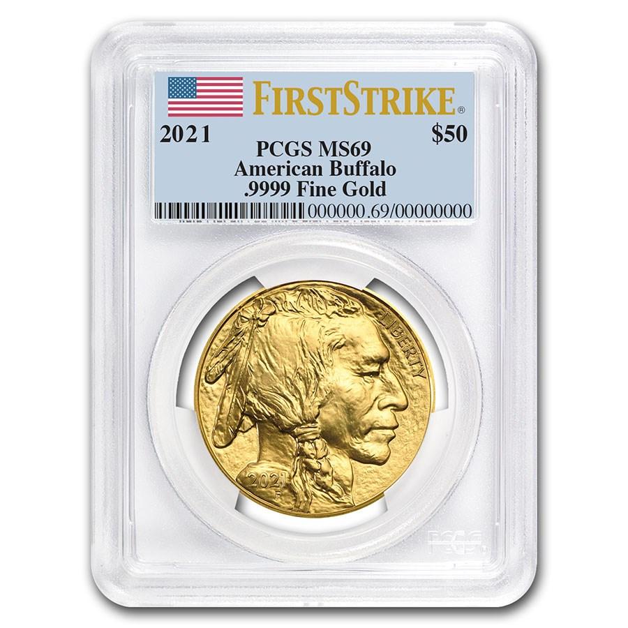 2021 1 oz Gold Buffalo MS-69 PCGS (FirstStrike®)