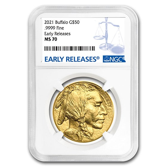 2021 1 oz Gold Buffalo MS-70 NGC (Early Releases)