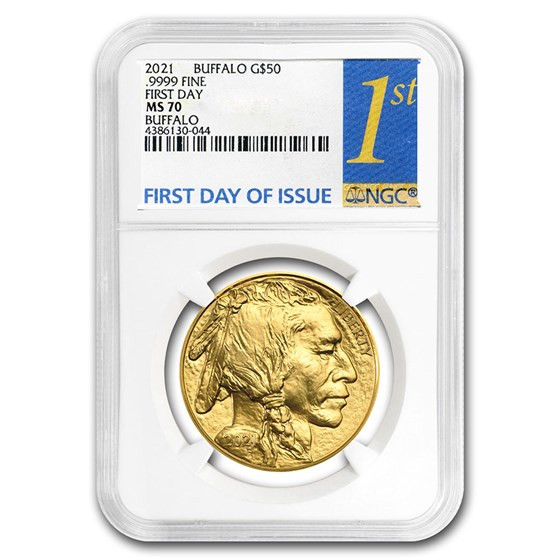 2021 1 oz Gold Buffalo MS-70 NGC (First Day Issue)