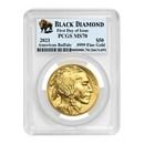 2021 1 oz Gold Buffalo MS-70 PCGS (FDI, Black Diamond)