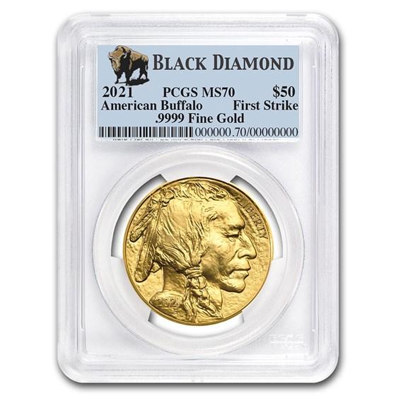 2021 1 oz Gold Buffalo MS-70 PCGS (FS, Black Diamond)
