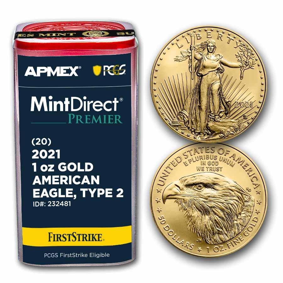 2021 1 oz Gold Eagles (MD® Premier + PCGS FS® Tube, Type 2)
