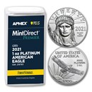 2021 1 oz Platinum Eagle (20-Coin MD® Premier + PCGS FS® Tube)