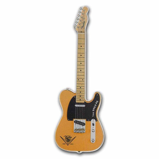 2021 1 oz Proof Silver Fender® Telecaster® 75th Anniversary