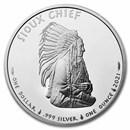 2021 1 oz Silver $1 Sioux Indian Chief Portrait BU