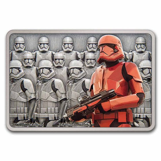 2021 1 oz Silver $2 Star Wars Guards of the Empire: Sith Trooper