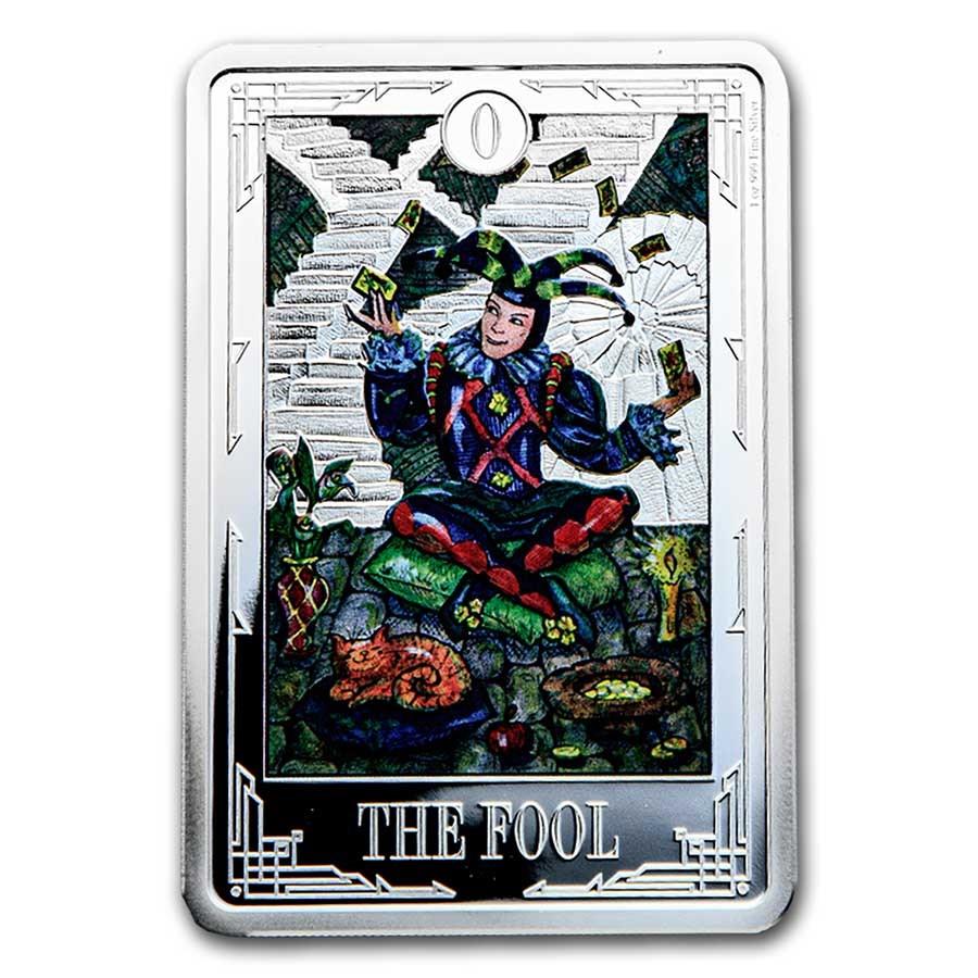 2021 1 oz Silver $2 Tarot Cards: The Fool