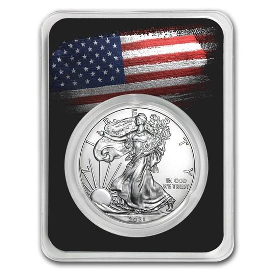 2021 1 oz Silver American Eagle - American Flag