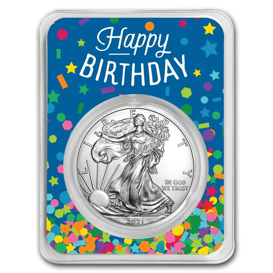 2021 1 oz Silver American Eagle - Birthday Confetti