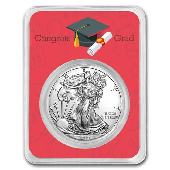 2021 1 oz Silver American Eagle - Congrats Grad Scholar