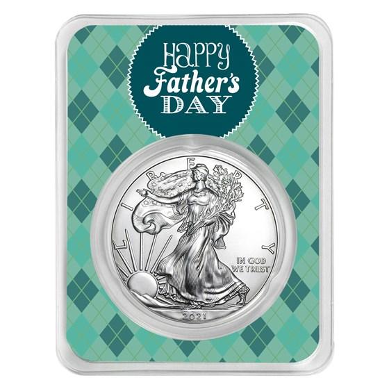 2021 1 oz Silver American Eagle - Father's Day Argyle