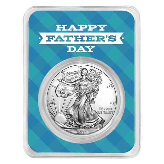 2021 1 oz Silver American Eagle - Father's Day Plaid
