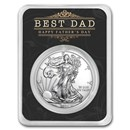2021 1 oz Silver American Eagle - Happy Father's Day - Best Dad