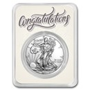 2021 1 oz Silver American Eagle - Just Married Congratulations