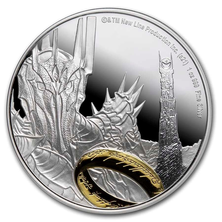 2021 1 oz Silver Coin $2 The Lord of the Rings: Sauron