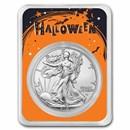 2021 1 oz Silver Eagle Type 2 - (w/Happy Halloween Card, In TEP)