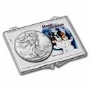 2021 1 oz Silver Eagle Type 2 - w/Snap-Lock Holder, Snowmen