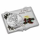 2021 1 oz Silver Eagle Type 2 - w/Snap-Lock, Joyous Holiday