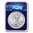 2021 1 oz Silver Eagle Type 2 - w/Starry Night Nativity Card