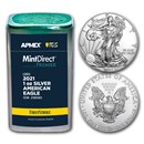 2021 1 oz Silver Eagles (20-Coin MD Premier + PCGS FS Tube)