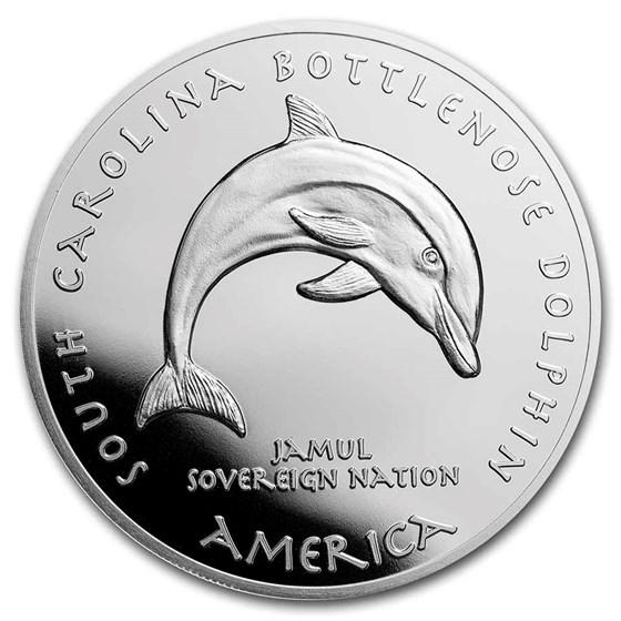2021 1 oz Silver State Dollars South Carolina Bottlenose Dolphin