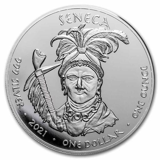 2021 1 oz Silver State Dollars West Virginia Wild Boar