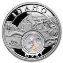 2021 1 oz Silver Treasures of the U.S. Idaho Opal (Box/COA)
