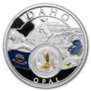 2021 1 oz Silver Treasures of the U.S. Idaho Opal (Colorized)