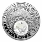 2021 1 oz Silver Treasures of the U.S. Iowa Quartz (Box/COA)