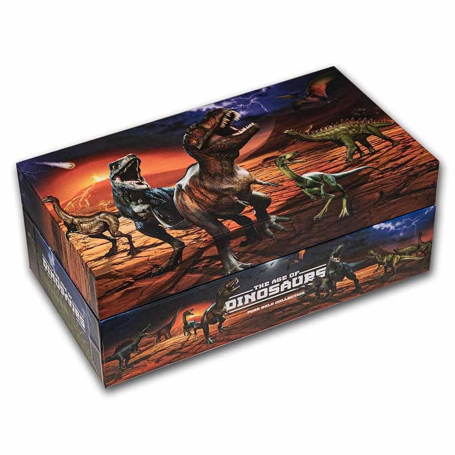 2021 12-Coin Dinosaur 1/2 Gram Gold Collection Box (Empty)