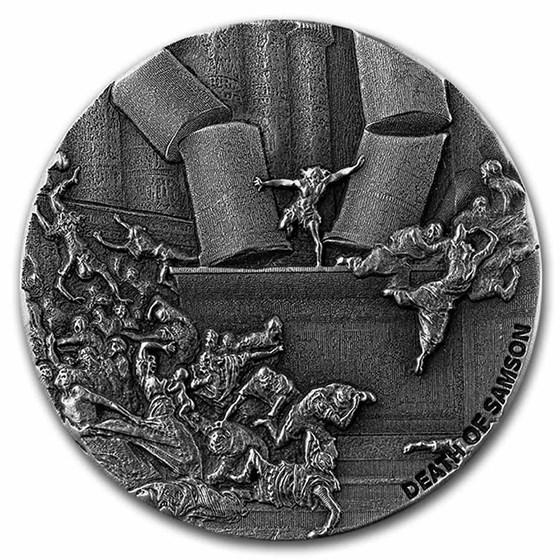 2021 2 oz Silver Coin - Biblical Series (Death of Samson)
