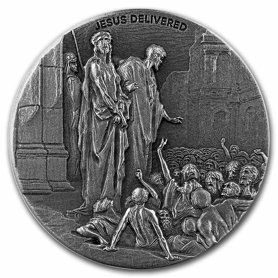 2021 2 oz Silver Coin - Biblical Series (Jesus Delivered)