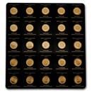 2021 25x 1 gram Gold Maple Leafs Maplegram25™ (In Assay Sleeve)