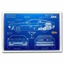 2021 35 gram Silver Foil Back to the Future: DeLorean Blueprints