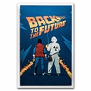 2021 35 gram Silver Foil Back to the Future Doc and Marty Poster