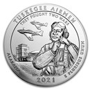 2021 5 oz Silver ATB Tuskegee Airmen National Historic Site, AL