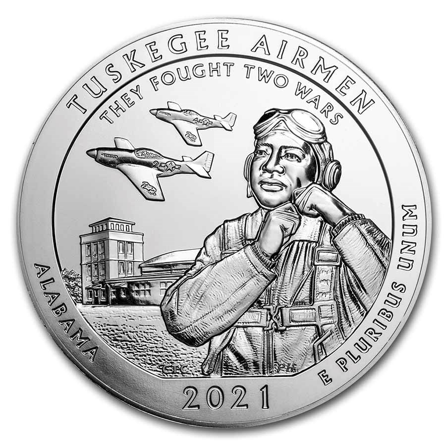 2021 5 oz Silver ATB Tuskegee Airmen National Historic Site, AL