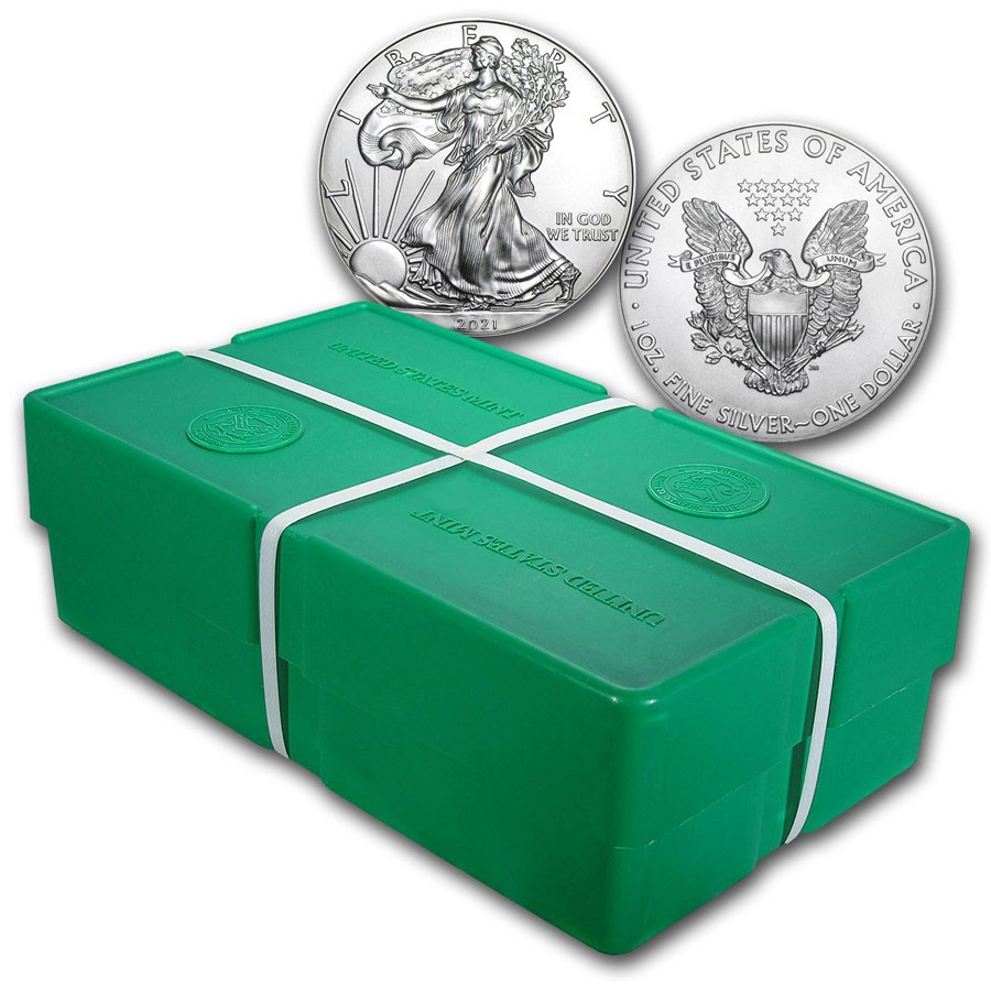 2021 500-Coin American Silver Eagle (Type 1) Monster Box (Sealed)
