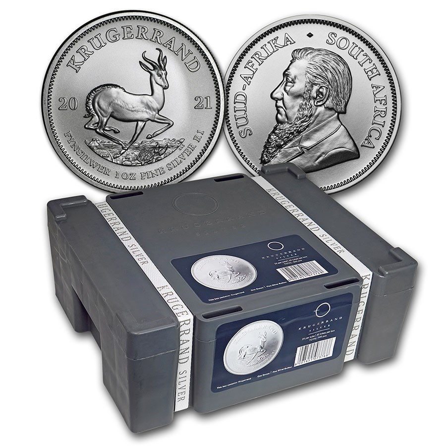 2021 500-Coin South Africa 1 oz Silver Krugerrand Monster Box
