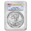 2021 American Silver Eagle MS-69 PCGS (FirstStrike®, Type 2)