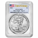 2021 American Silver Eagle MS-70 PCGS (FirstStrike®, Type 2)