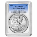 2021 American Silver Eagle MS-70 PCGS (Type 2)