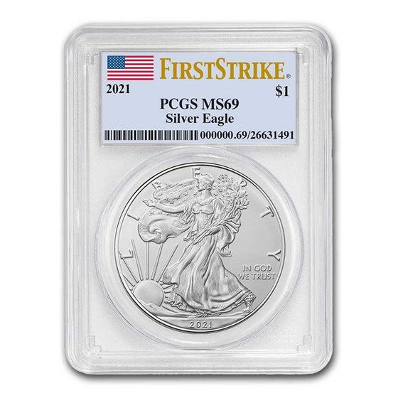 2021 American Silver Eagle (Type 1) MS-69 PCGS (FirstStrike®)