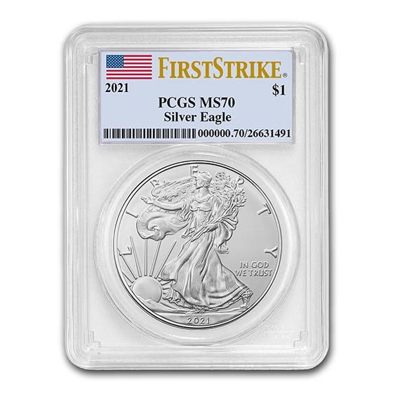 2021 American Silver Eagle (Type 1) MS-70 PCGS (FirstStrike®)